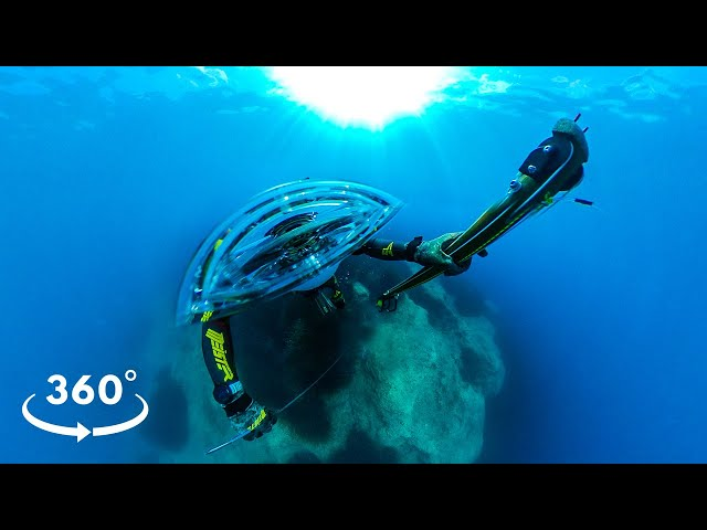 360° VR Experience Underwater Ionian Sea |Spearfishing Life 🇬🇷