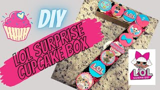 LOL Surprise Dolls Cupcake Monogram Number Box  Monogram Cupcakes