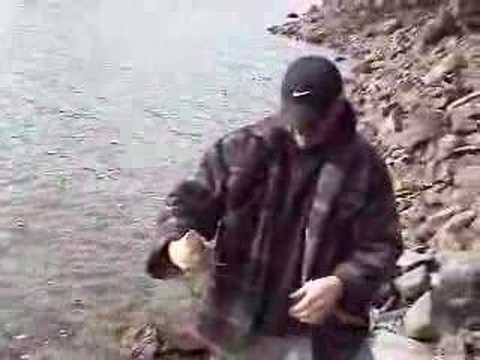 Fishing For Trout On The Pend Oreille River In Idaho