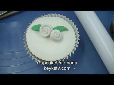 Cupcakes para boda faciles. Easy wedding cupcakes