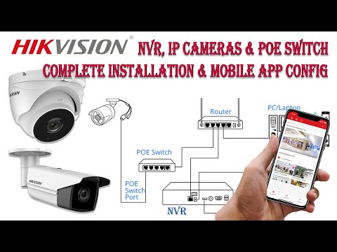 Hikvision Latest Version NVR, IP Camera & Poe Switch Complete installation setup and Hikconnect app