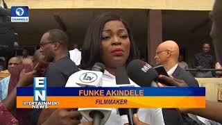 Funke Akindele Debuts Baby Bump As She Speaks Against Piracy  EN