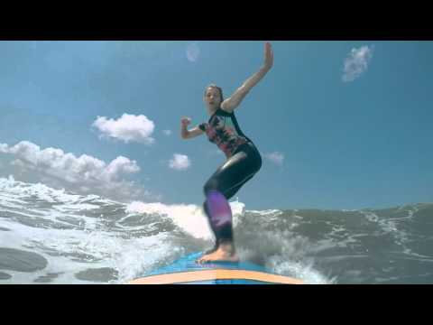 I wanna go surfing: First Surf Lessons at Kuta Beach