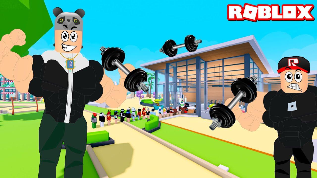 Spor Salonumuz Büyüdü ve Geliştik!! - Panda ile Roblox Gym Tycoon