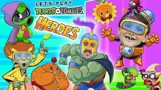 Lets Play PVZ HEROES w/ Mike, Lex & Duddy (NEW! Plants vs. Zombies Mobile Super Hero Card Game)