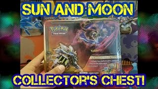 Opening a Pokemon Sun and Moon Collectors Chest!!! Great Value!