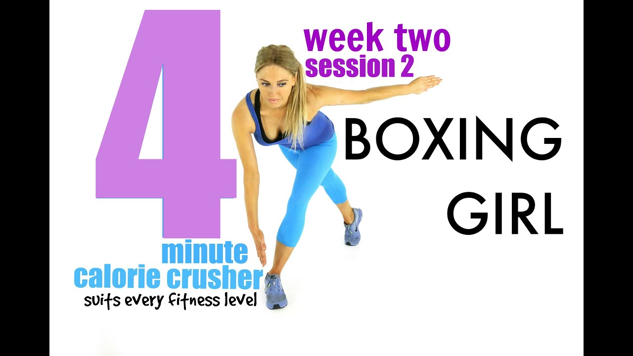 boxing girl 4 minute calorie crusher suits every fitness level
