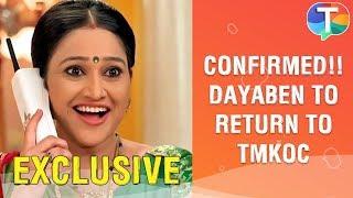 CONFIRMED!! Disha Vakani aka Dayaben to return to Taarak Mehta Ka Ooltah Chashmah in 2020