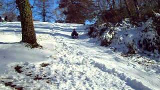 Homemade Sled Ramp gone VERY wrong!