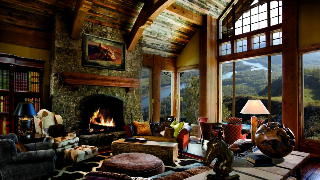 Hd Fireplace Background Scene Relax Cosy Living Room Fire Crackling Sound Only 2 Hours Youtube