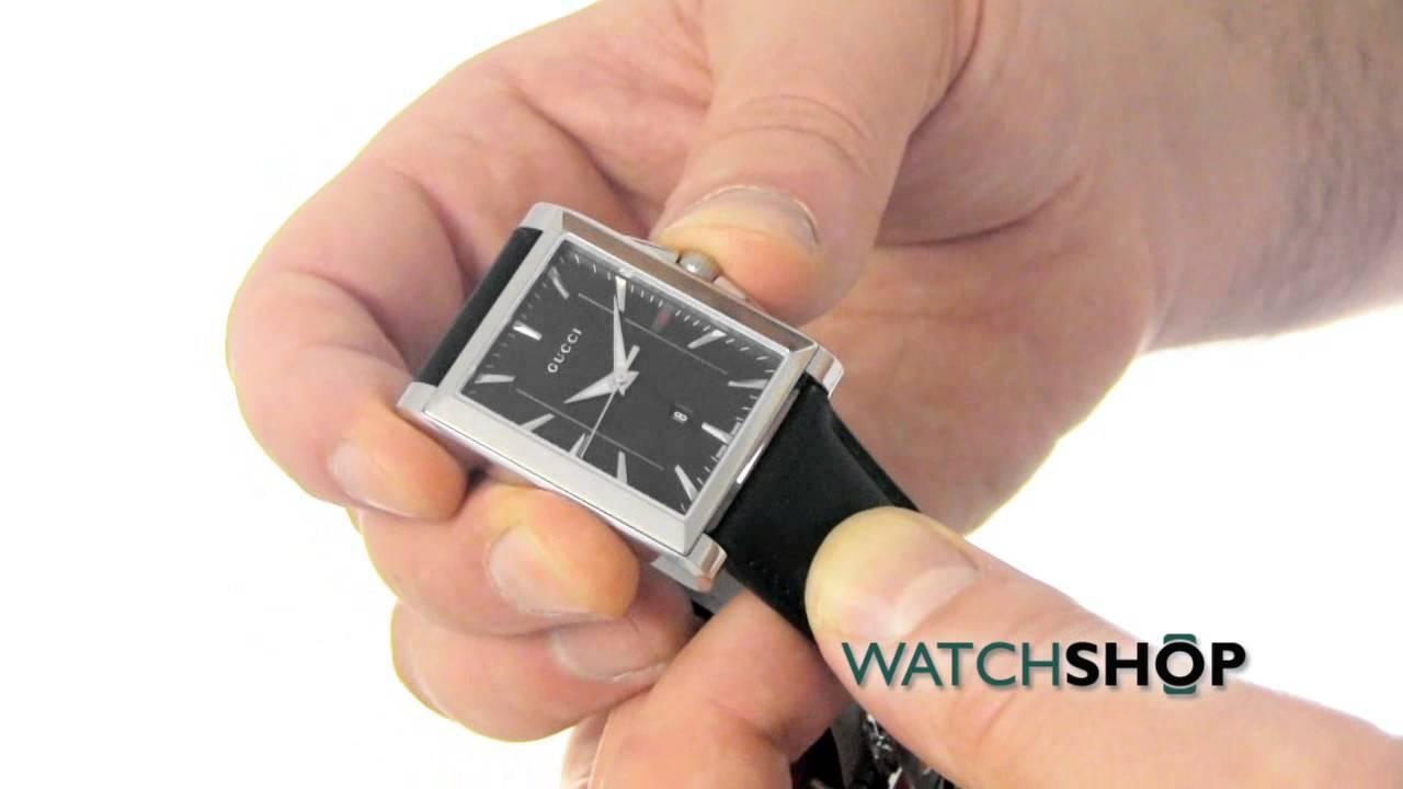 31b55b8363b Gucci Men s G-Timeless Rectangle Watch (YA138404) - YouTube