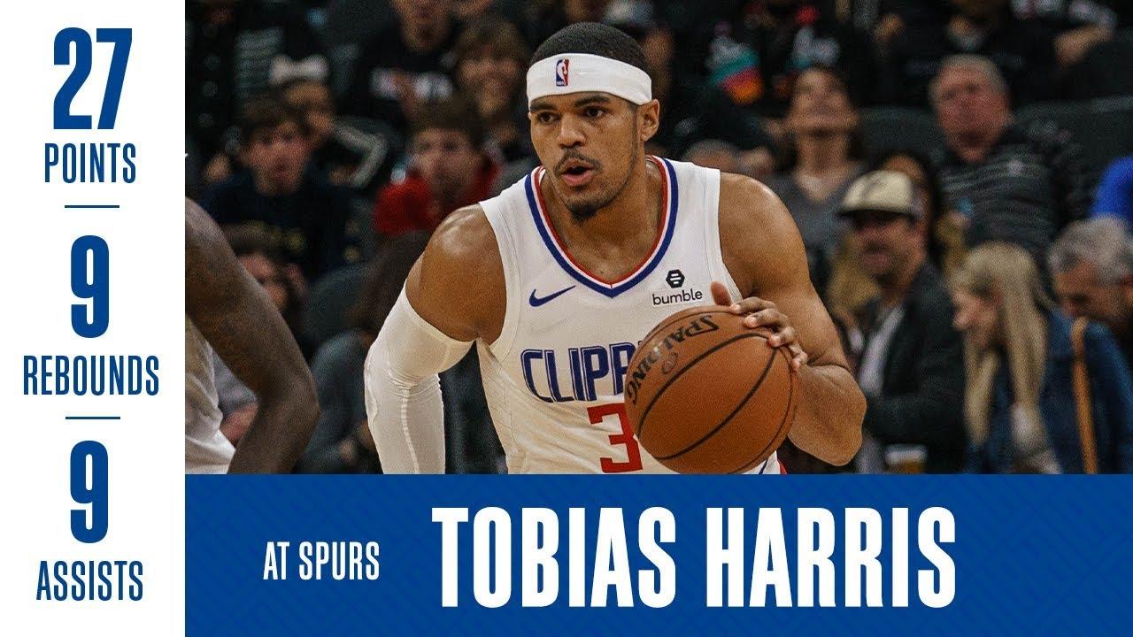 Tobias Harris Highlights at Spurs | 1/20