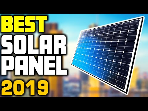 5 Best Solar Panels in 2019