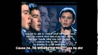 He showed me how-lyrics on screen by David Archuleta