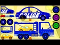 Car Driving for Kids : Truck Driver Cartoons - Monster Truck : Car, Police Car, Tractor, AutoСart