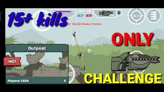 Only Phasr gun challenge in outpost in Mini militia | 15+ kills with only phasr gun | Militians zone screenshot 3