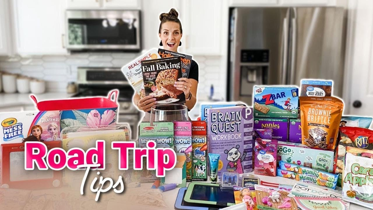 TRAVELING WITH FOUR KIDS | ROAD TRIP SNACKS AND HACKS | ENTERTAINING KIDS