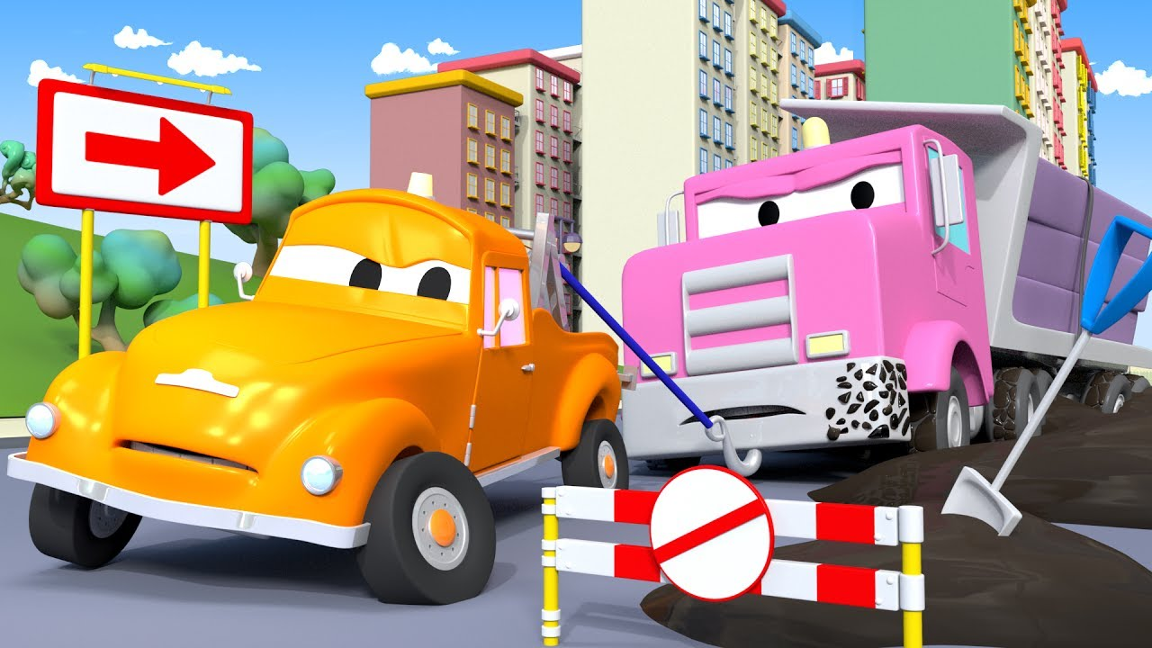 grumpy-flavy-gets-stuck-tom-the-tow-truck-in-car-city-l-cartoons-for-children
