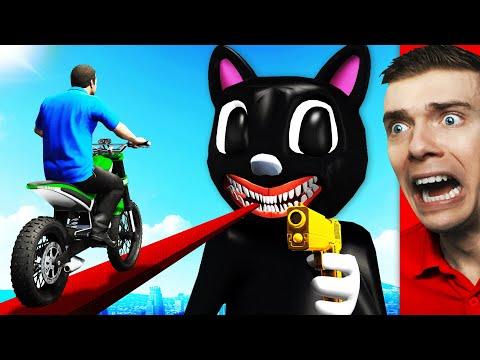 Crossing CARTOON CAT'S BRIDGE In GTA 5 (Impossible)