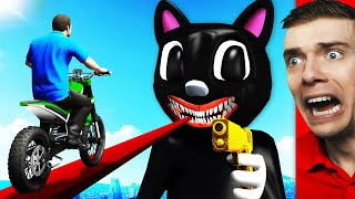 Crossing CARTOON CAT'S BRIDGE In GTA 5 (Impossible)