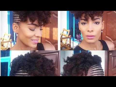 protective-style:-cornrow-updo-with-curls