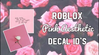 Roblox Pink Estetica Decal ID
