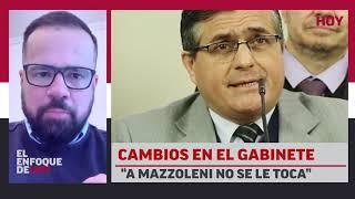 """Cambios en el gabinete: """"A Mazzoleni no se le toca"""""""