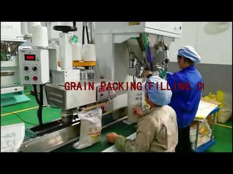 Опаковъчна машина за пълнене на чували със зърно, слънчоглед, варива и пелети