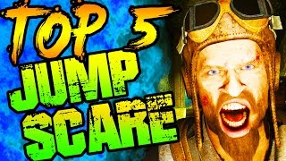 TOP 5 SCARY JUMPSCARE EASTER EGGS IN CALL OF DUTY ZOMBIES! ZOMBIES HALLOWEEN TOP 5!