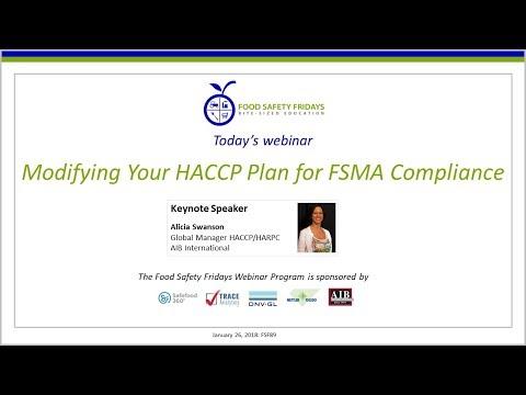 Modifying Your HACCP Plan For FSMA Compliance