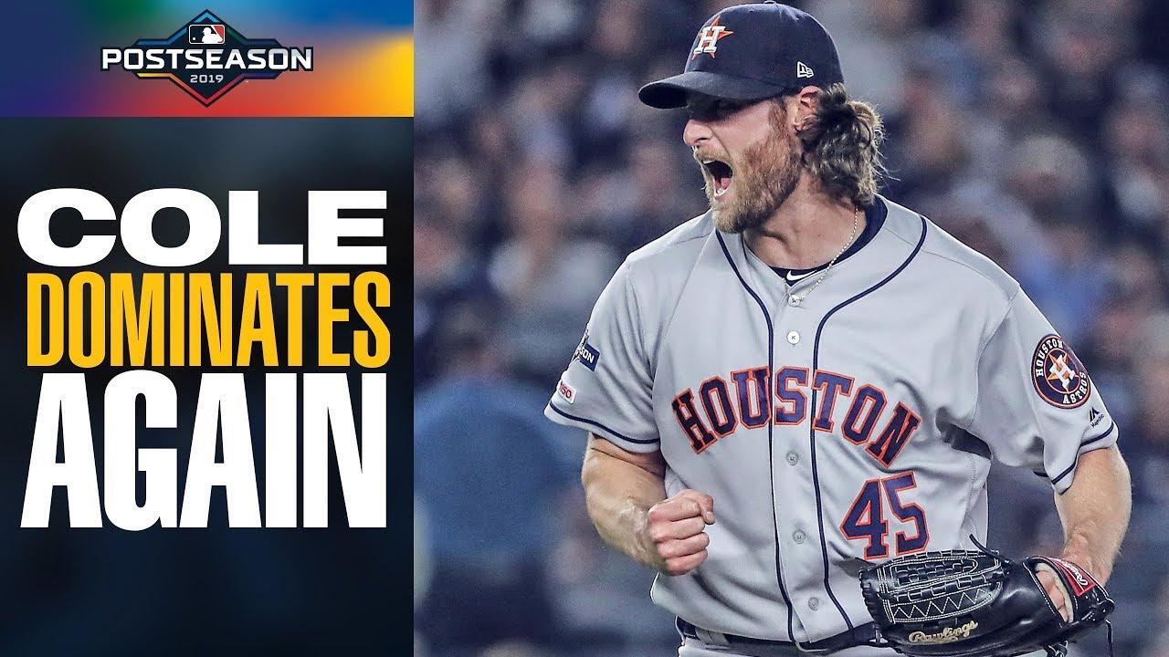 Astros Gerrit Cole 7 Ip 7 Ks 0 R Continues Postseason Dominance Vs Yankees Mlb Highlights