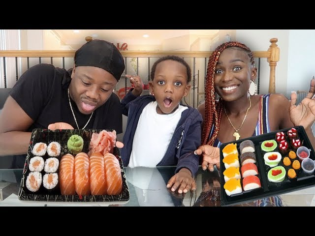 raw-sushi-vs-gummy-sushi-challenge-gets-heated-billy-throws-up
