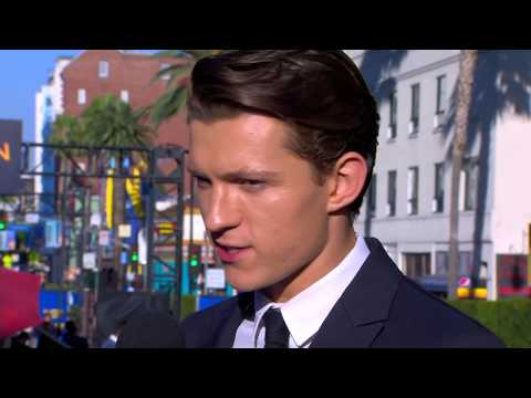 Tom Holland Swings Into Action at the Spider-Man: Homecoming Red Carpet World Premiere