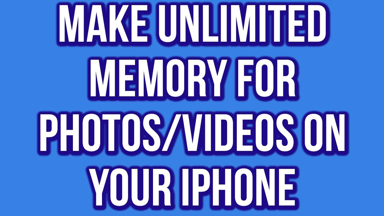 How to Make Unlimited Memory For Photos/Videos Free On ...