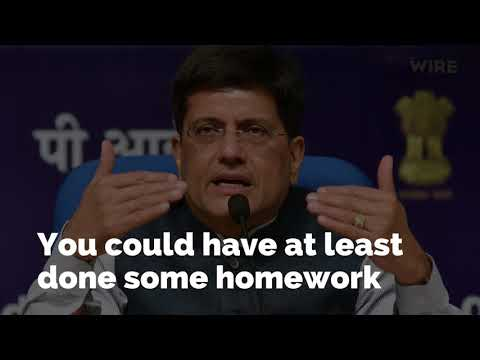 Lost your job? Piyush Goyal thinks that's a 'very good sign'