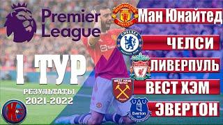 Английская Премьер Лига АПЛ Сезон 21 2022 Тур 1 Результаты Таблица Первое поражение Гвардиолы