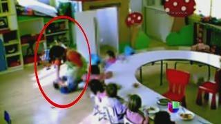 Un indignante abuso fue grabado por una cámara de vigilancia en una guardería