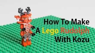 LEGO rudolf, How To make a Lego Rudolph, LEGO stop motion ,lego animation
