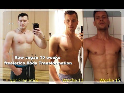 Vegane Ernährung vorher und nachher