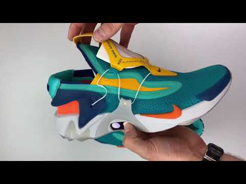 Nike Adapt Huarache 'hyper Jade/total Orange' | UNBOXING & ON FEET | Fashion Shoes | 2019