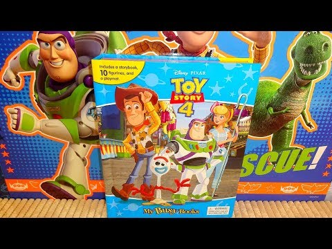 2019 New Disney TOY STORY 4 Phidal Figures Collection & Storybook Rare !!!