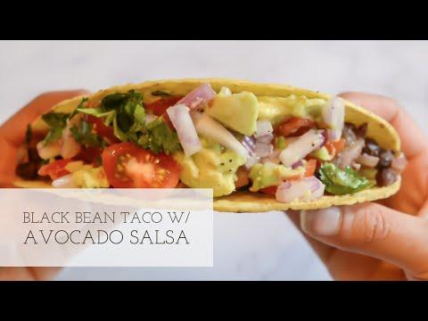 Black Bean Tacos with Tomato & Avacado Salsa | Vegan + Oil Free