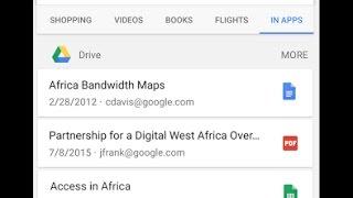 функция поиска файлов на Google Диске для фирменного приложения Google на Android