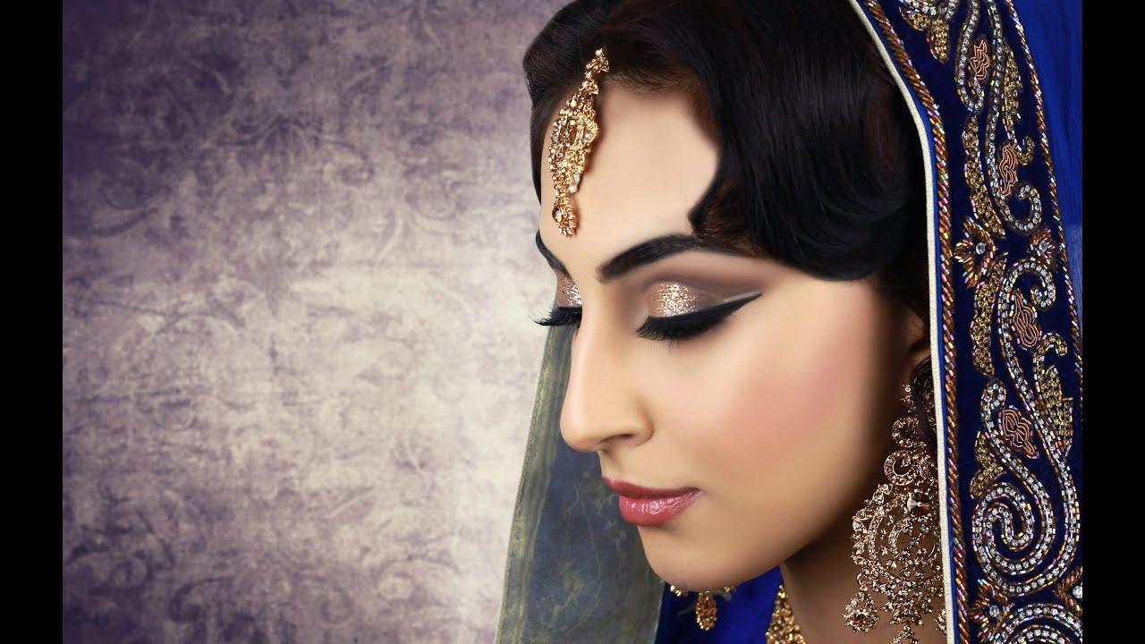Cut Crease with Glitter Asian Bridal Makeup