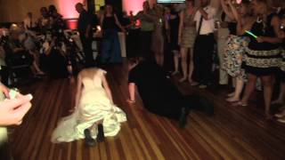 Bride and Videogapher do the worm - The Baugher-Buccola Wedding