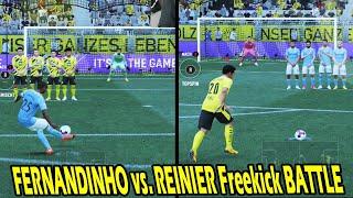 FIFA 21: Krasse Freistöße in FERNANDINHO vs. REINIER Freekick Challenge vs. Bruder! - Ultimate Team