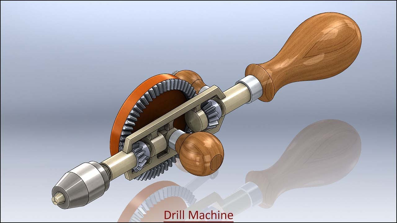 Drill Machine with audio narration || SolidWorks Tutorial