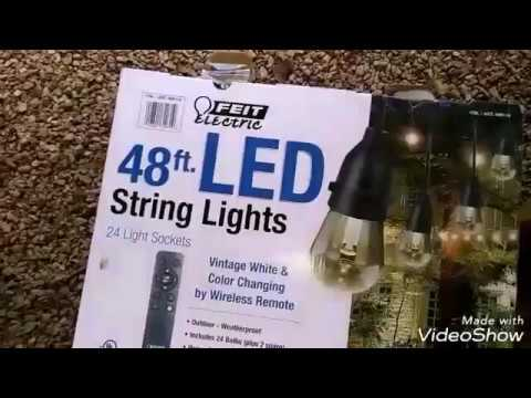 Feit Electric 48 Ft Led Weatherproof String Light Install