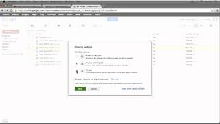 Google Drive Tutorial 2013 - Advanced Sharing and Permissions (5/6)