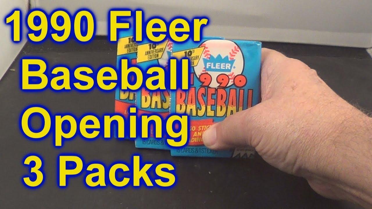 1990 Fleer Baseball Cards Opening 3 Packs Million Dollar Uribe Card